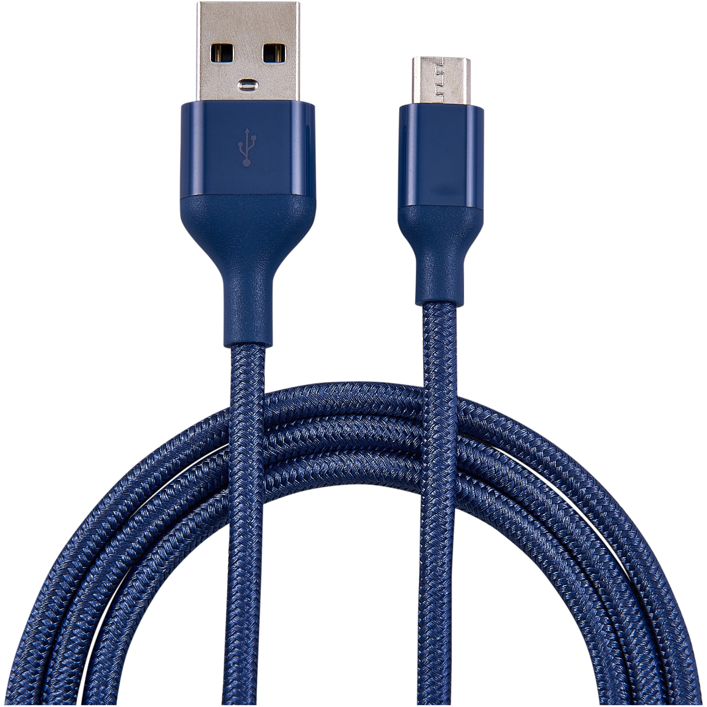 Blackweb™ 6 ft. Sync & Charge Cable with Micro USB Connector Purple