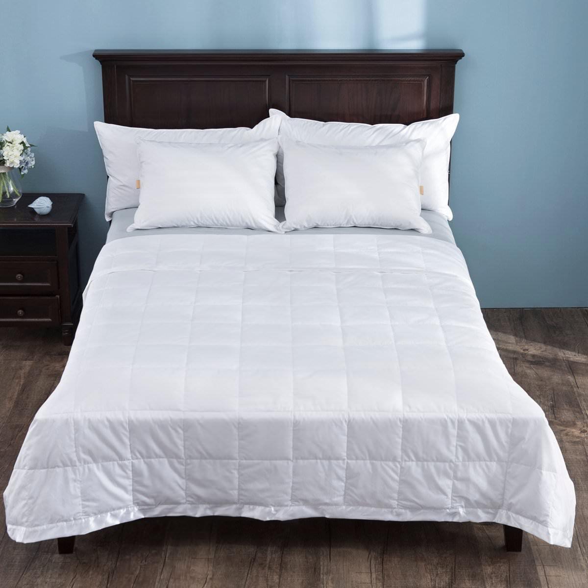 06b6cf859c Puredown Light Weight White Down Blanket With Satin Weave