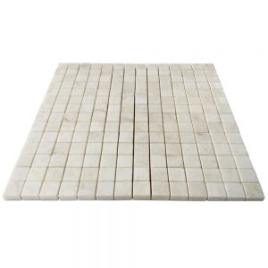 "Cream Pearl Onyx Tumbled Mosaic Tile 3/4"" X 3/4"""