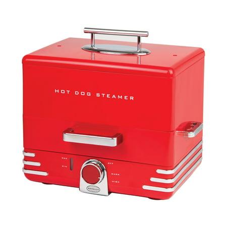 Nostalgia HDS248RD Diner Style Hot Dog Steamer