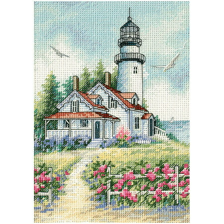 "Dimensions Gold Collection Petite ""Scenic Lighthouse"" Counted Cross Stitch, 5"" x 7"""