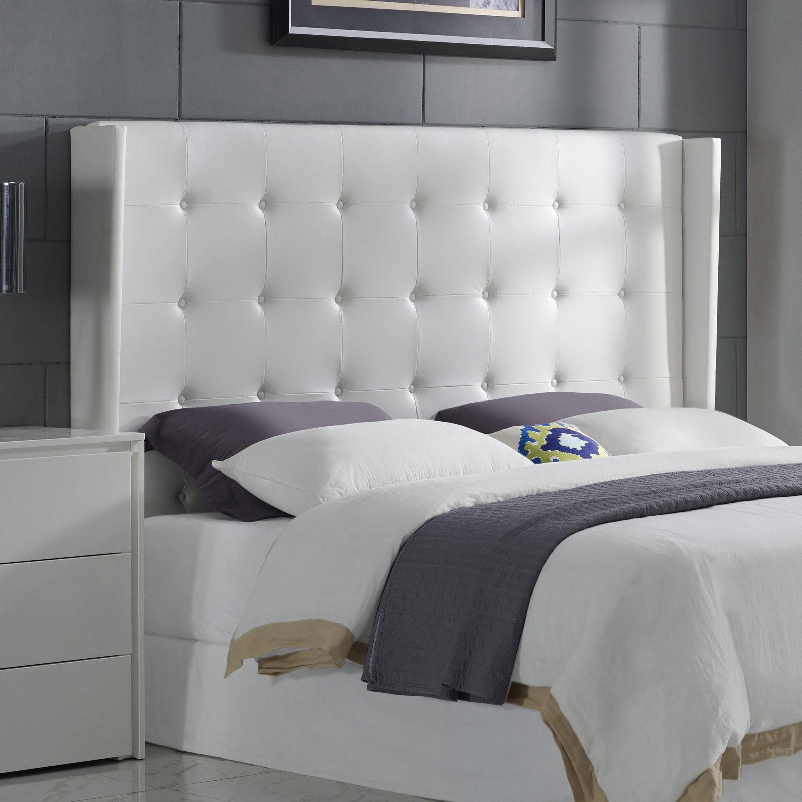 Casabianca Home Cozy Upholstered Headboard - King