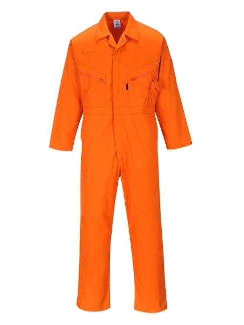 Portwest C813ORRXL Zip Boilersuit, Orange - Extra Large