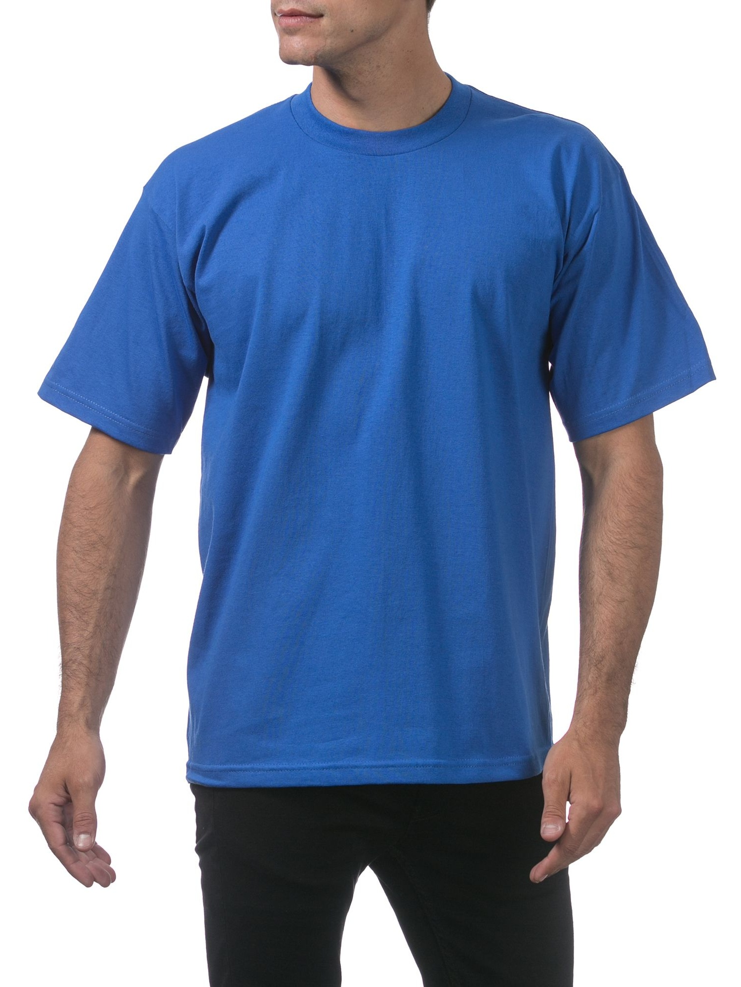 Pro Club Mens 3-Pack Heavyweight Cotton Short Sleeve Crew Neck T-Shirt