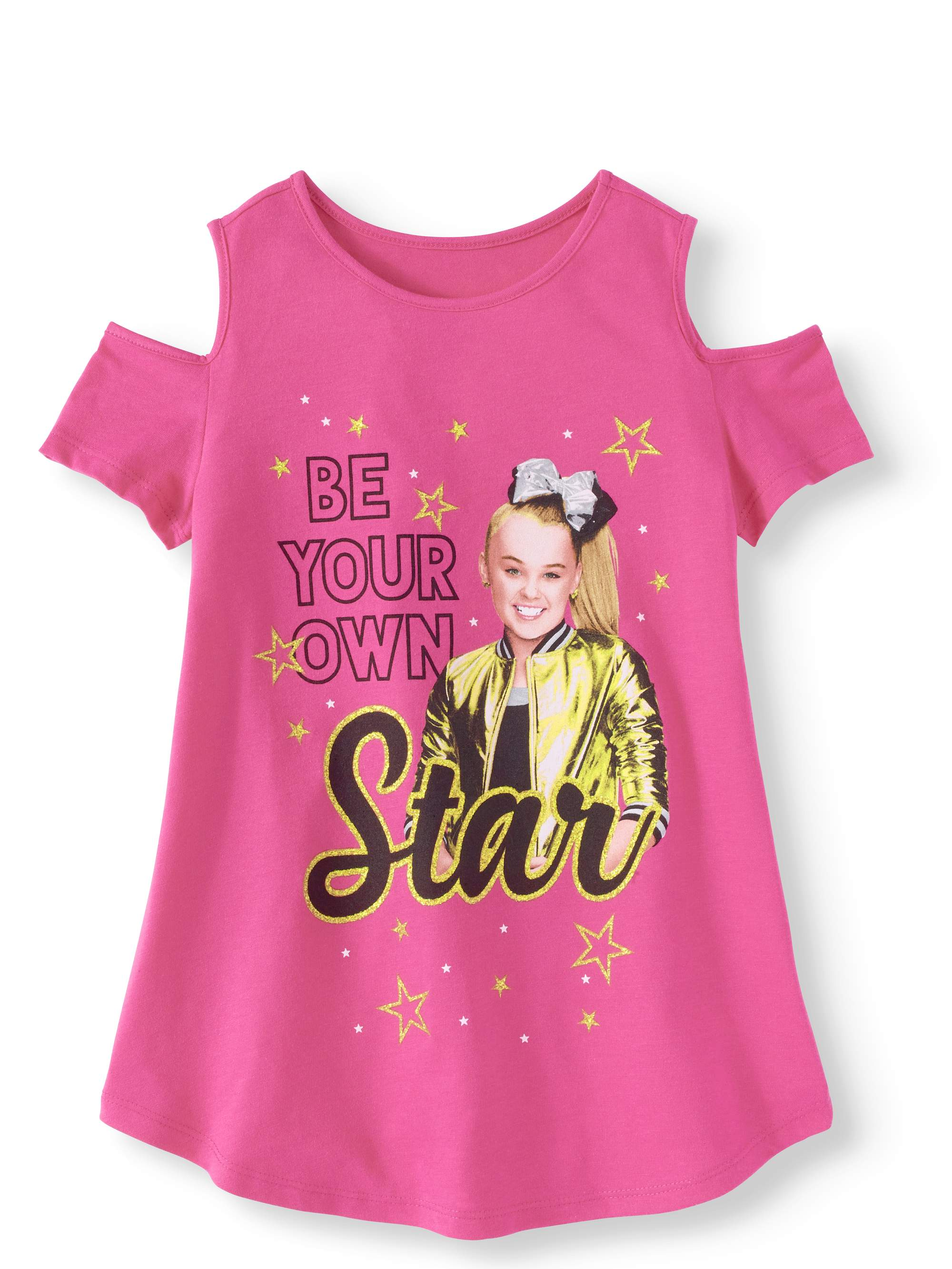 JoJo Siwa Glitter Graphic Cold-Shoulder T-Shirt (Little Girls & Big Girls)