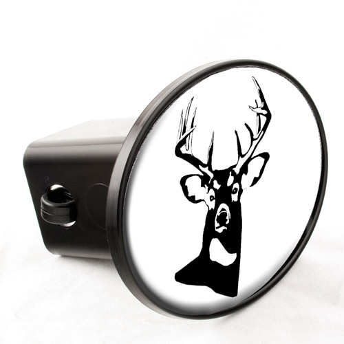 Knockout Decals - White Tail Hitch Cover