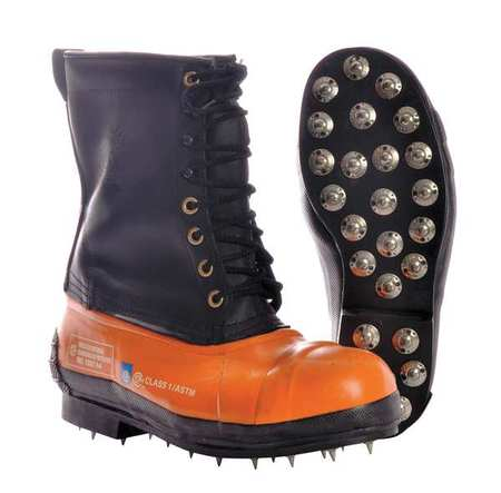 Viking Wear Black Tusk Lug Sole Leather Bottom Chainsaw Boot