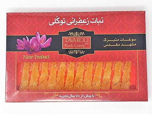 Cyrus Saffron, Saffron Rock Candy with Stick (24 stick) 500 gram by