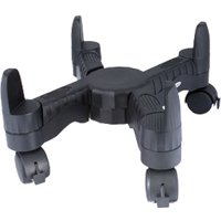 Kantek Mobile CPU Stand with Adjustable Width and Locking Casters, Black