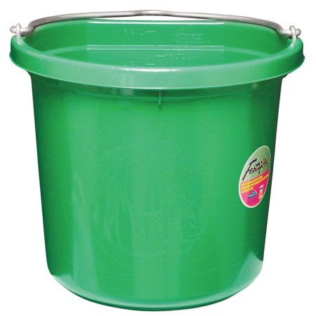 Fortex/Fortiflex FB-120GR Heavy Duty Flat Side Bucket, 12 in H, Fortalloy