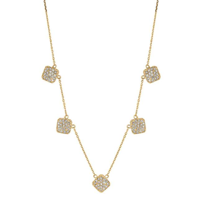 Harry Chad HC10812 1 CT 18 in. 14K Yellow Gold Diamond Square Necklace Pendant - Color G-H - VS2 & SI Clarity - image 1 de 1