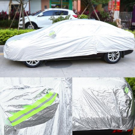 Aluminum Coating Full Car Cover Outdoor Waterproof Sun UV Dust Rain Resistant Protection, Car Cover Sun Protection, UV Resistant Car Cover