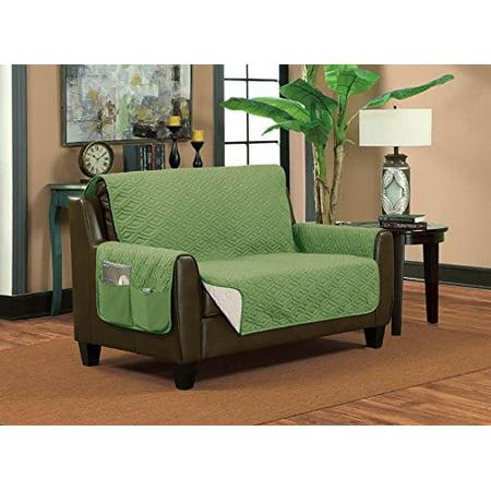 Home Sweet Reversible Furniture Protector Diamond Design Sofa Sage Taupe