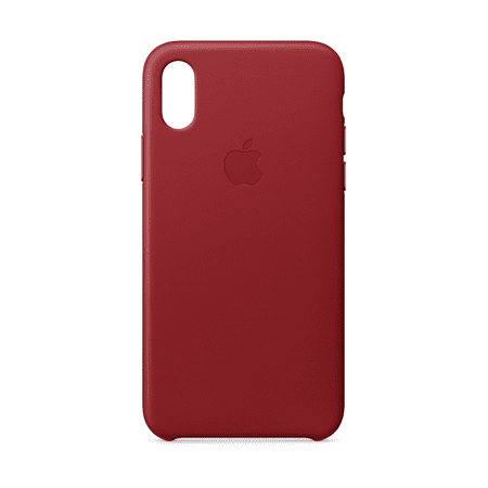 official photos c2fd1 87c5d Apple Leather Case for iPhone X - (PRODUCT) Red