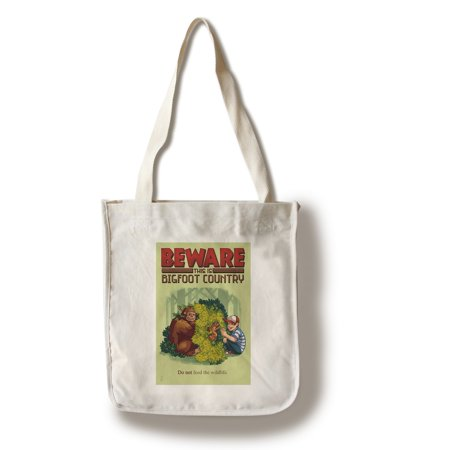 Bigfoot Country - Do Not Feed the Wildlife (100% Cotton Tote Bag - Reusable) ()