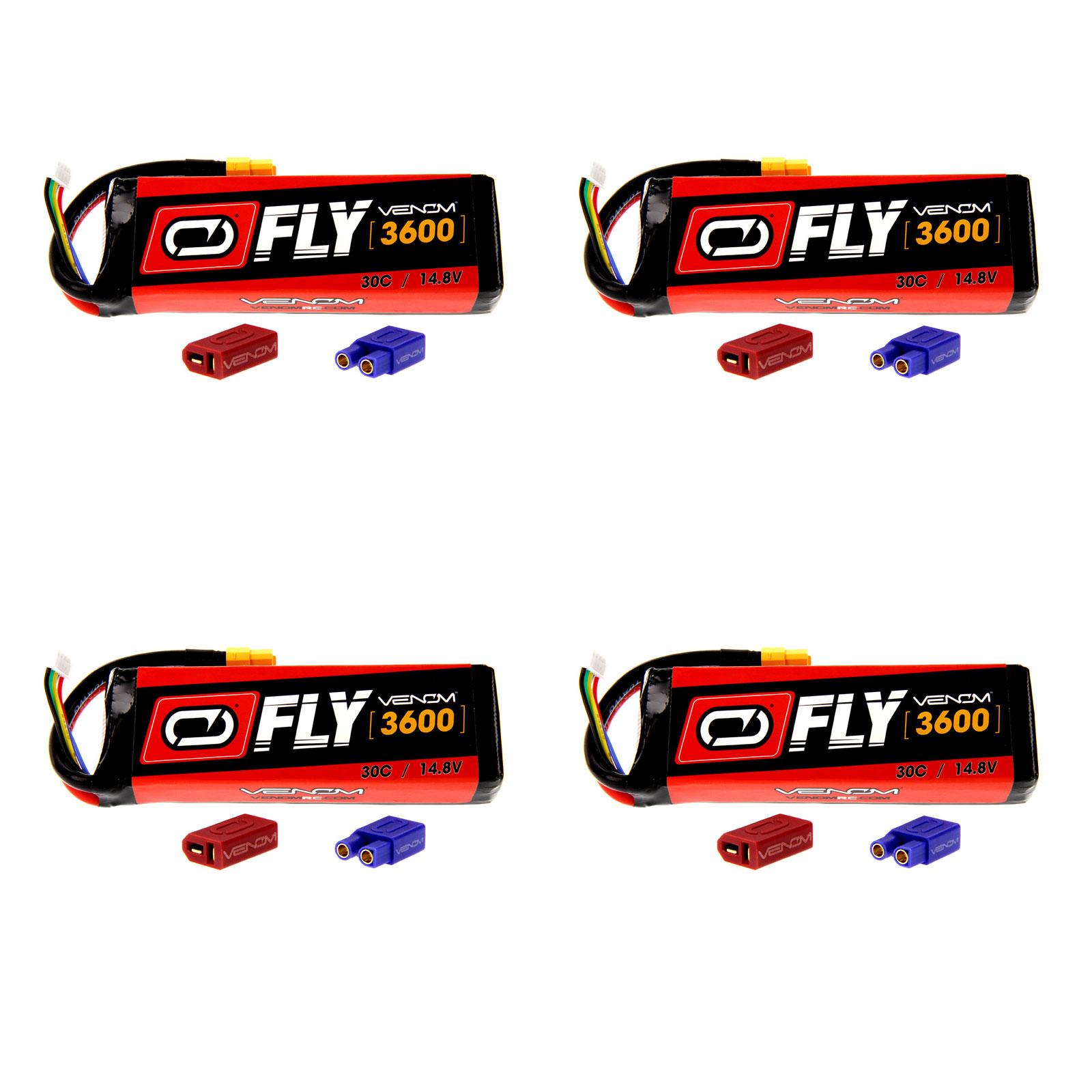 VENOM Fly 30C 4S 3600mAh 14.8V LiPo Battery with  UNI 2.0...