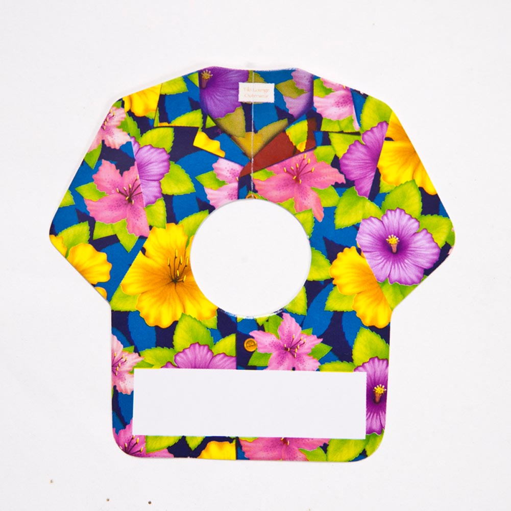 Tropical Shirt Wine Glass Name Tags