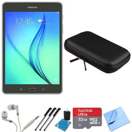 Samsung Galaxy Tab A 8-Inch Tablet (16 GB, Smoky Titanium) 32GB Memory Card  Bundle