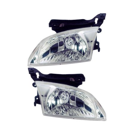 Pair New Premium Quality Left   Right Headlight Assembly For Chevy Cavalier