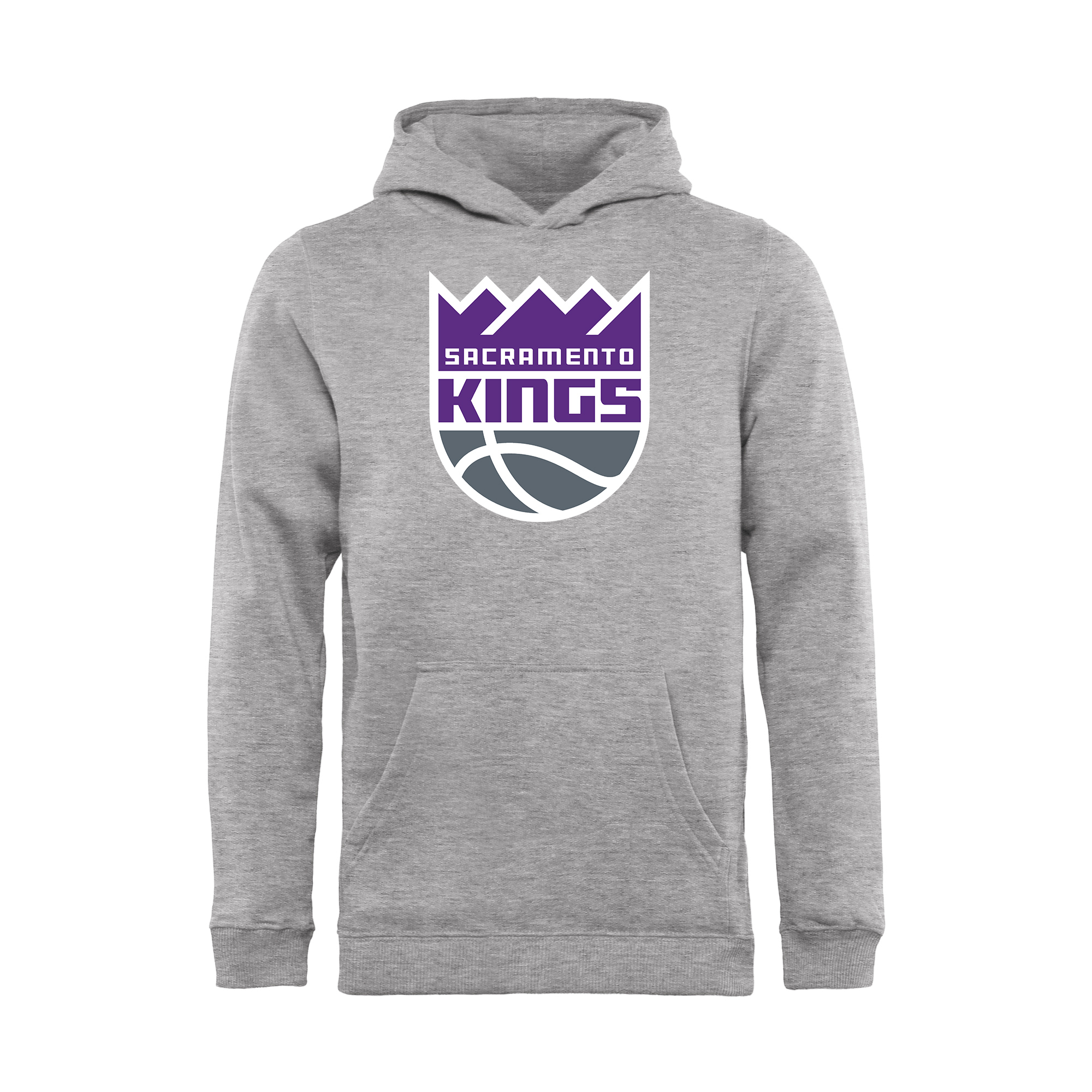Sacramento Kings Fanatics Branded Youth Primary Logo Pullover Hoodie - Heathered Gray