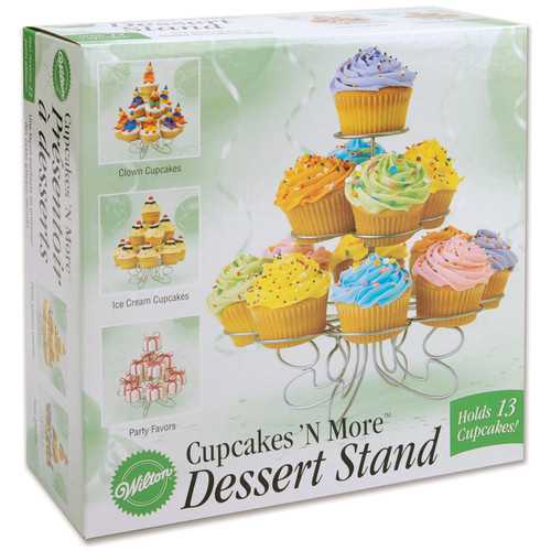 """Wilton Cupcakes 'N More������ 10""""x9"""" Small Dessert Stand, 13 ct. 307-831"""