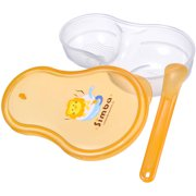 Simba Baby Food Storage Container w/ Feeding Spoon, Orange