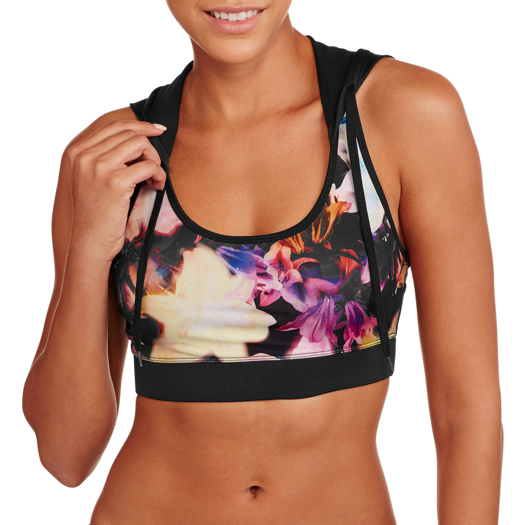 Energie Juniors' Active Sporty Bra with Hoodie