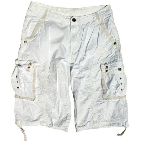 Mens Military Cargo Shorts #053 White Size 30