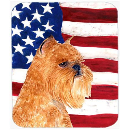Carolines Treasures SS4020MP Usa American Flag With Brussels Griffon Mouse Pad, Hot Pad Or Trivet - image 1 of 1