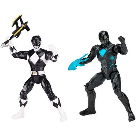 Power Rangers Black Ranger (Power Rangers - Then and Now Black Ranger Figure Set,)