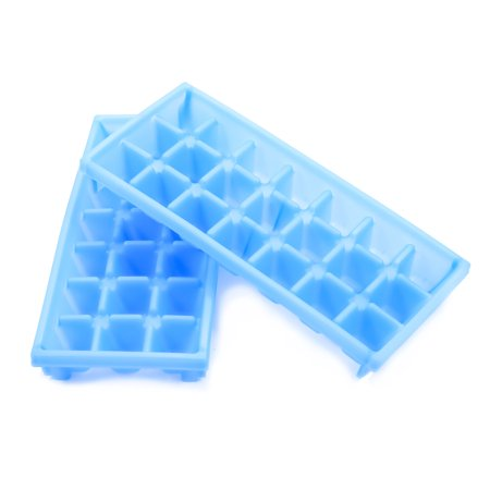 Camco Stackable Miniature Ice Cube Tray for Mini Fridges, RV/Marine Freezers, Dorm Freezers and Small Freezers, (2 Pack) (44100)