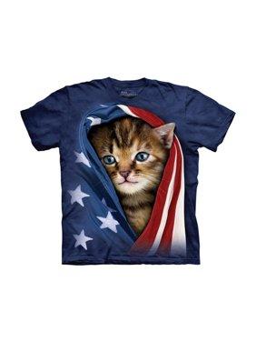 Patriotic Kitten Big Boys T-Shirt Tee