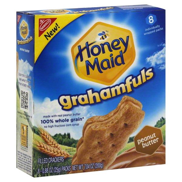 Nabisco Honey Maid Grahamfuls Peanut Butter Filled Crackers,7. 04.8 Oz.