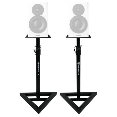 2 Rockville Adjustable Studio Monitor Speaker Stands For Dynaudio LYD 7 Monitors