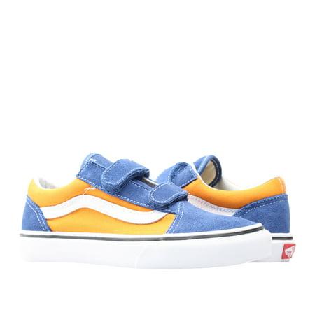 Vans Old Skool V POP Og Blue/Gold Little/Big Kids Low Top Sneakers VN0A38HDQ1B