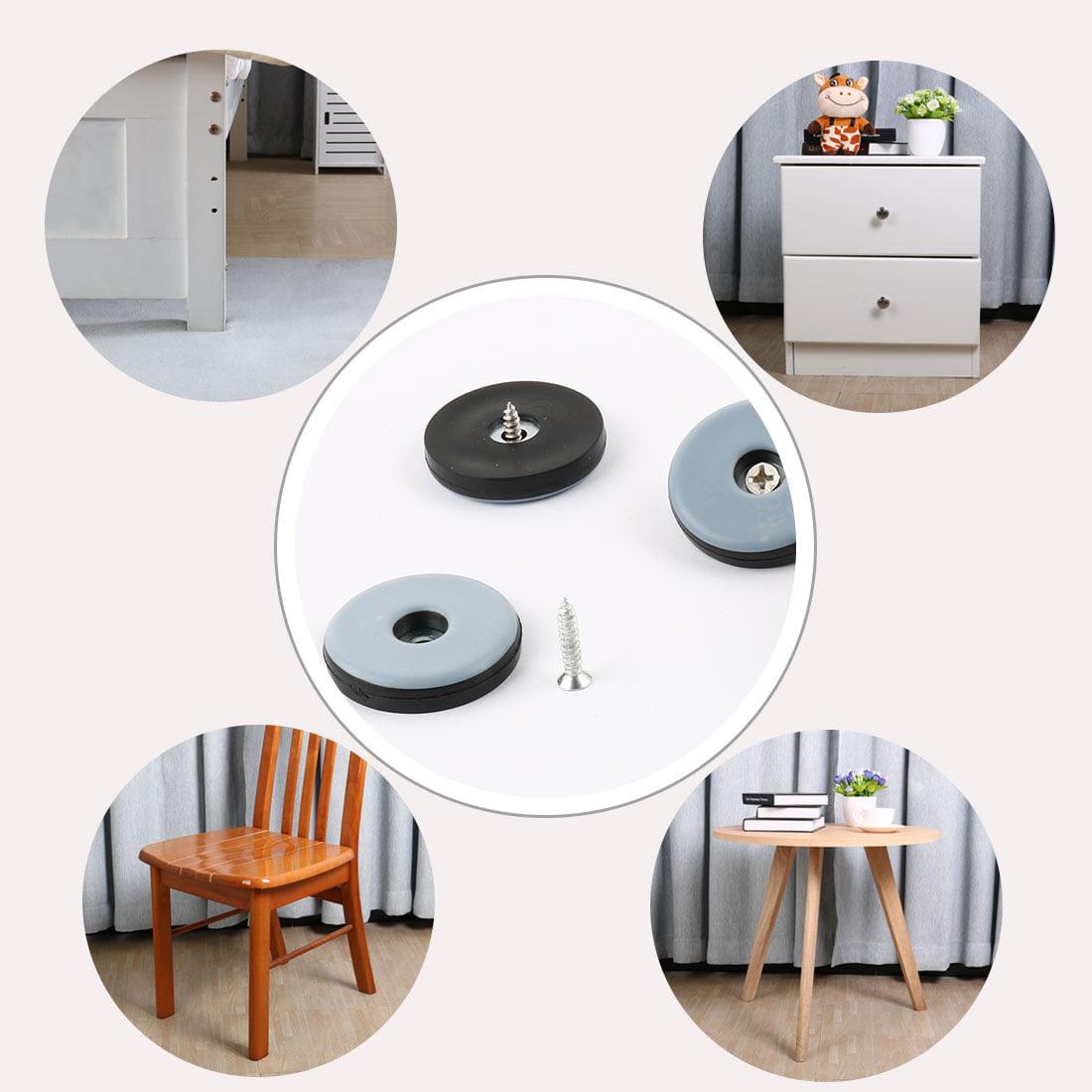 Stable Screw Furniture Slider Glides Chair Sofa Foot Mover Light Blue 4pcs - image 2 de 5