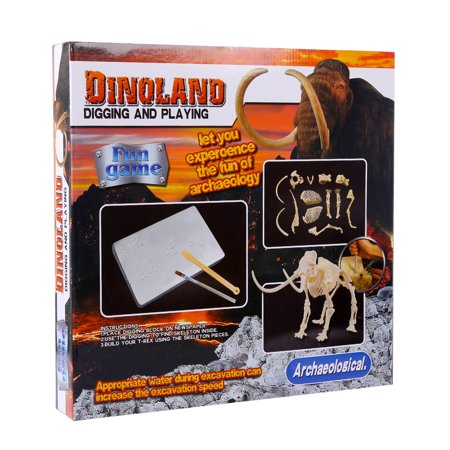Dinosaur Deluxe Kit (Deluxe Edition Children Assembly Dinosaur Archaeology Excavation Toys - Mammoth )