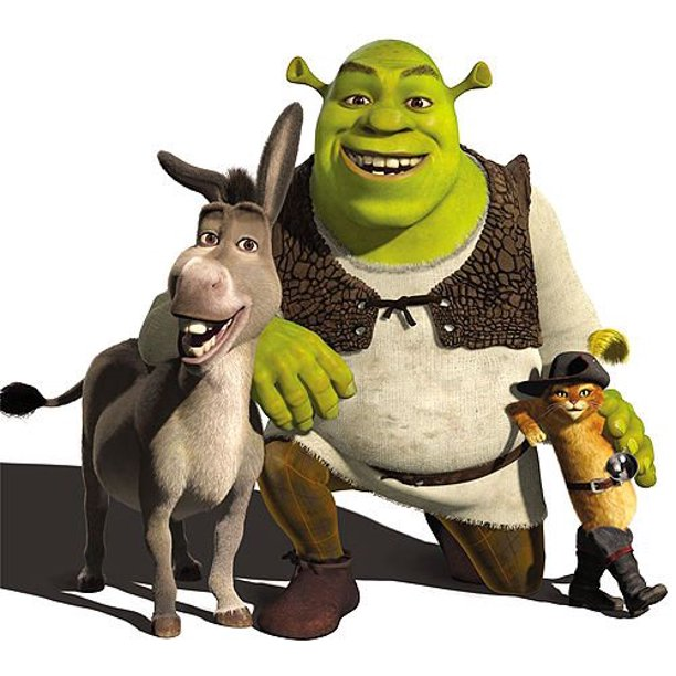 Shrek Donkey Puss N Boots 1 4 Sheet Edible Photo Birthday Cake Topper Frosting Sheet Personalized Walmart Com Walmart Com
