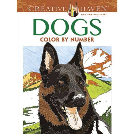 Creative Haven Dogs Color by Number Coloring Book - Number Book