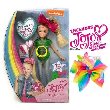 Ropeastar JoJo Siwa Doll Play Set with JoJo Siwa Signature Hair Bow for Girls (Singing Doll: High Top -