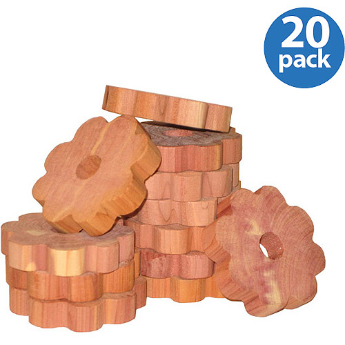 Generic Household Essentials Cedar Flower Rings for Hangers, 20 - Count