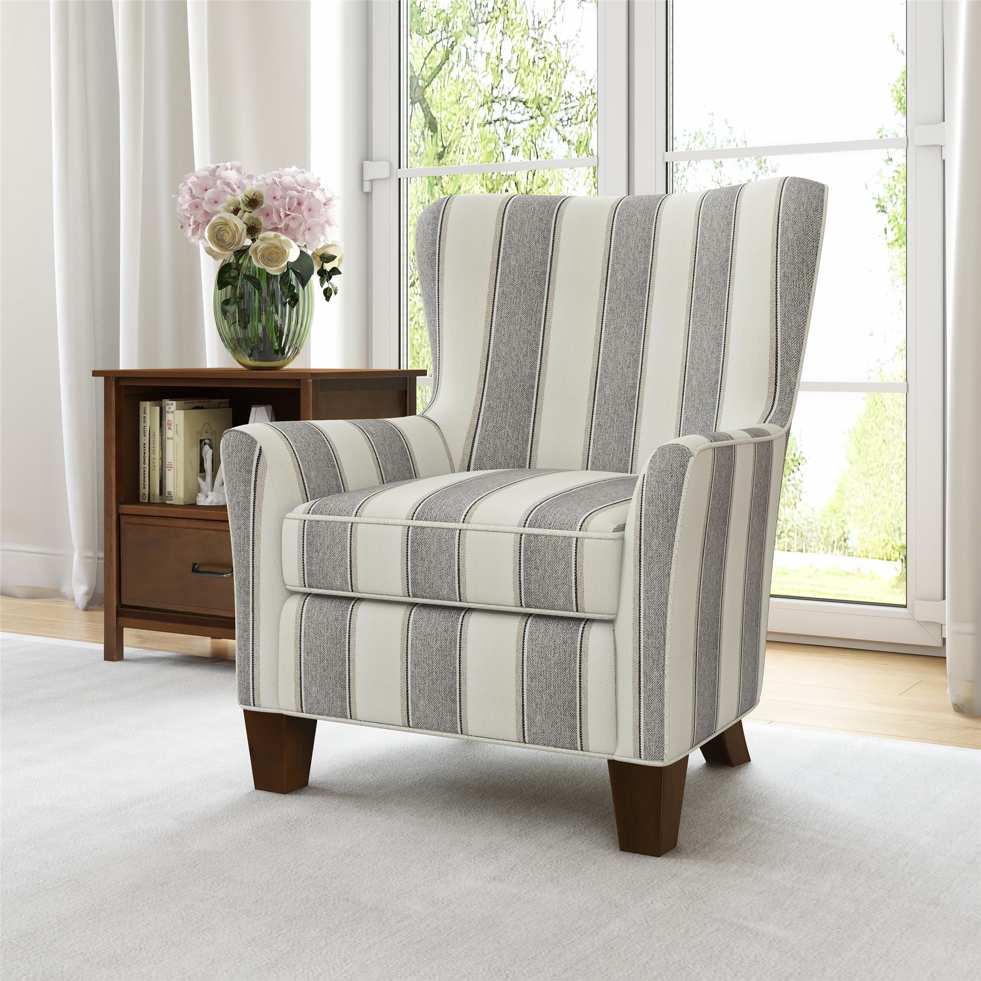 Better Homes Amp Gardens Grayson Accent Chair Gray Stripe