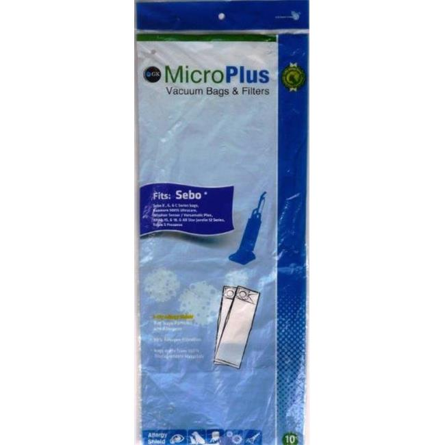 GK MicroPlus For Kenmore and Sebo GKH-S5300 Microplus 3 Ply Ecological Vacuum Bags- Pack of 100