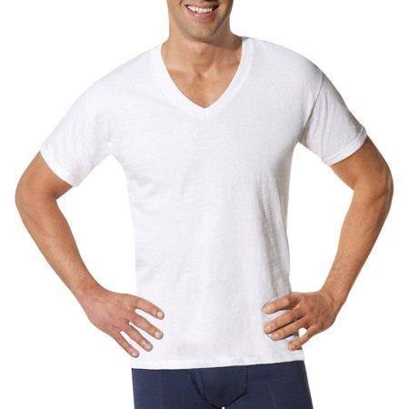 Hanes Men 39 S Comfortsoft White V Neck T Shirt 6 3 Free