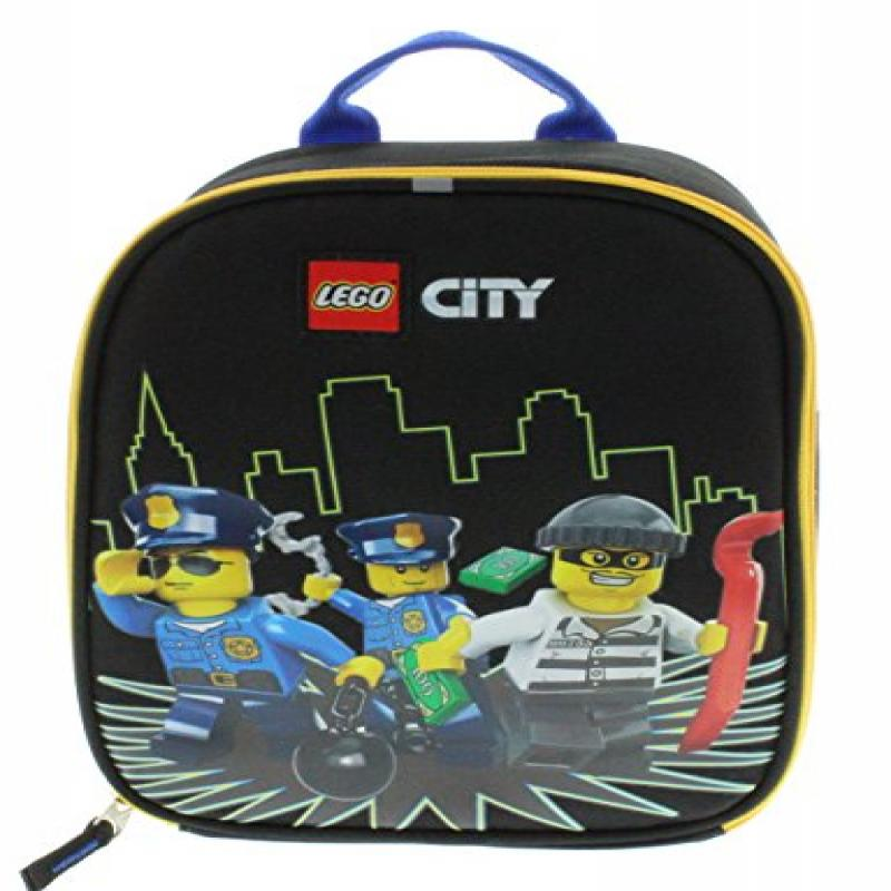 Lego City Vertical Insulated Lunch Bag - Policemen and Crook