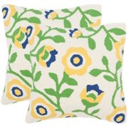 """Safavieh Provence Floral 20"""" x 20"""" Indoor/Outdoor Pillow, Set of 2"""