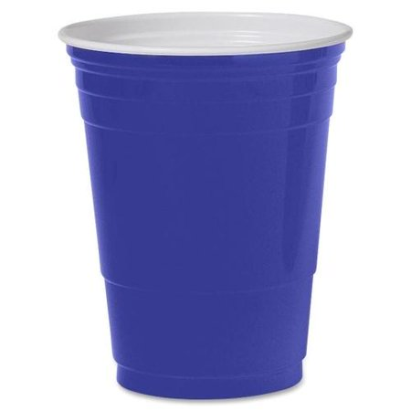 Solo Plastic Party Cup - 16 Oz - 50/pack - Polystyrene - Blue (P16BRLPK_35) - 3.5 Oz To Cups