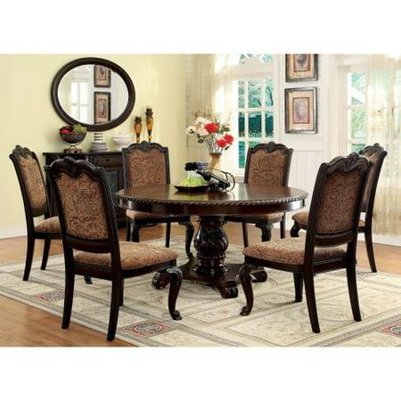 of america bershire 7 piece round dining table set