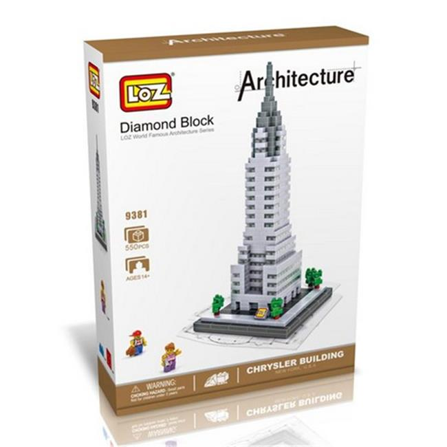 CIS 9381 Chrysler Building Model, Micro Blocks Set - image 1 of 1