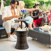 1PC Adjustable Outdoor Patio Rattan Ice Cooler Cool Bar Table Party Deck Pool